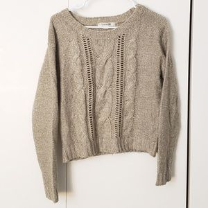 Forever 21 cable knit oatmeal sweater